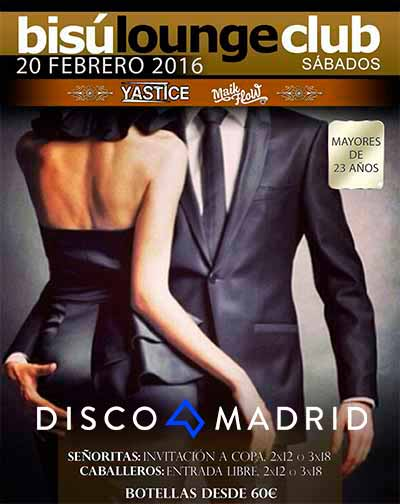 Bisú Madrid flyer 20 febrero 2016