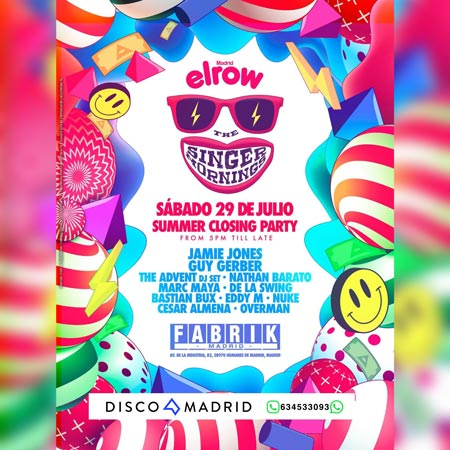 Cartel ElRow 29 julio 2017 Fabrik
