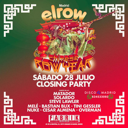 Cartel Elrow 28 julio 2018 Fabrik