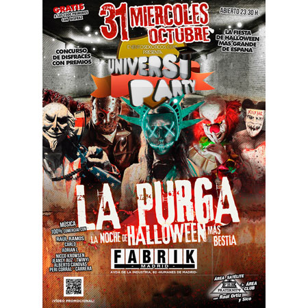 Cartel Halloween UniversiParty Fabrik 2018