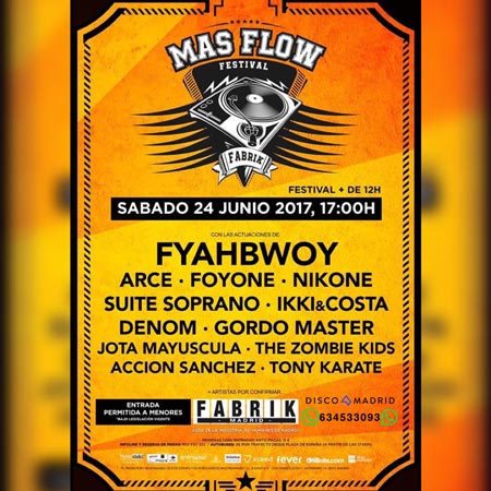 Cartel Mas Flow Fabrik 24 junio 2017