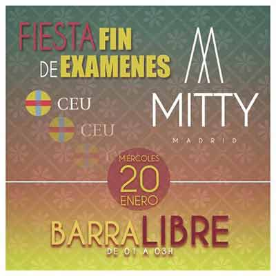 Flyer fin exámenes ceu mitty