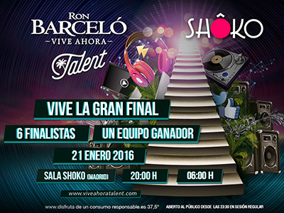 Flyer Barceló Talent Shoko enero 2016