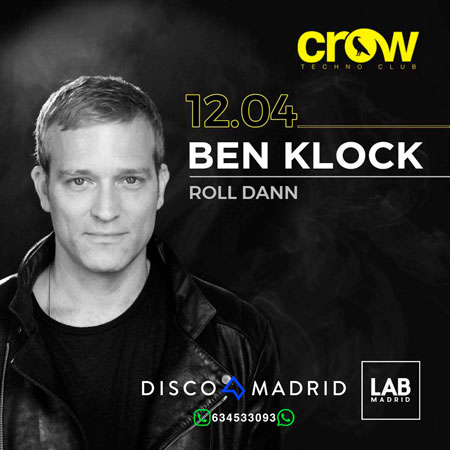 Flyer Ben Klock Crow 12 abril 2019