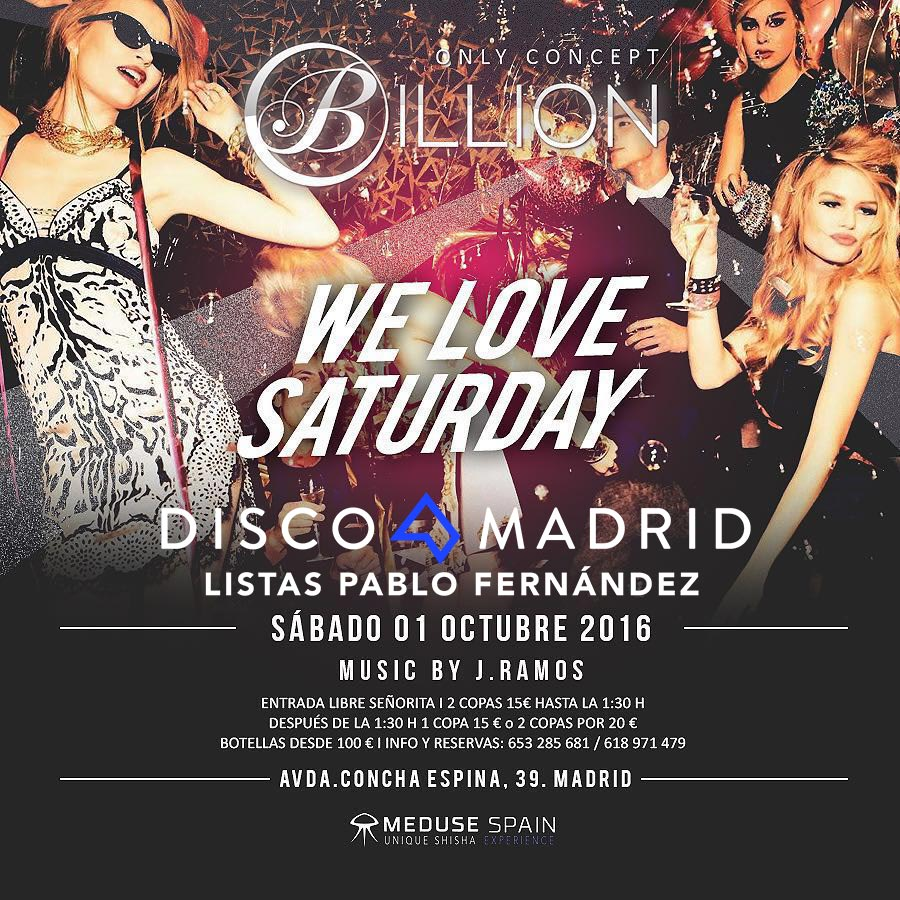 Flyer Billion Club 1 octubre 2016