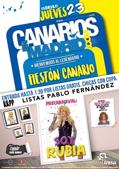 Flyer Carnaval 2017 Fieston Canario