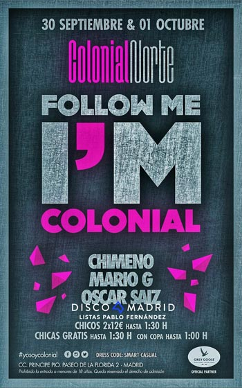 Flyer Colonial Norte fiesta follow me