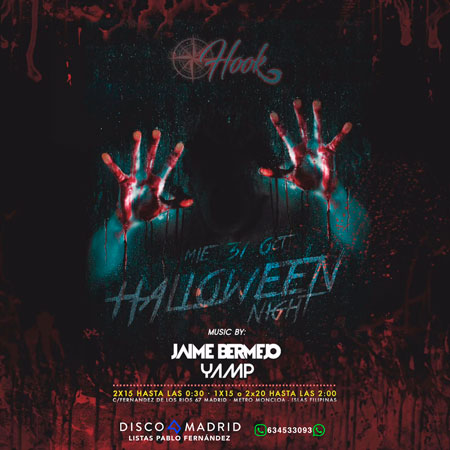 Flyer Copérnico Hook Halloween 2018