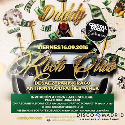Flyer Daddy 16 septiembre 2016