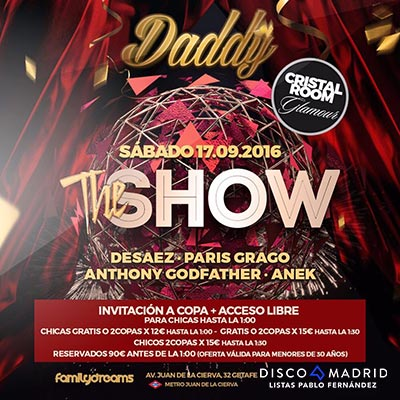 Flyer Daddy 17 septiembre 2016
