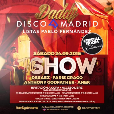 Flyer Daddy 24 septiembre 2016