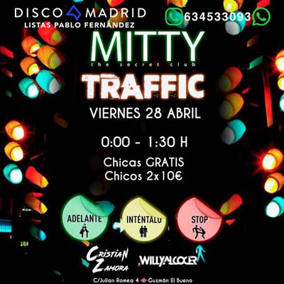 Flyer Discoteca Mitty 28 abril 2017
