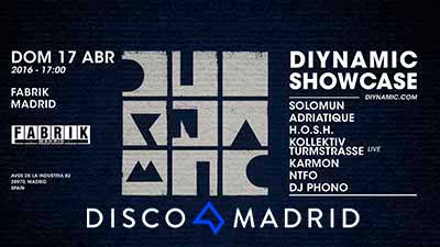 Flyer Diynamic Showcase Fabrik abril 2016