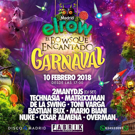 Flyer ElRow Carnaval 10 febrero 2018