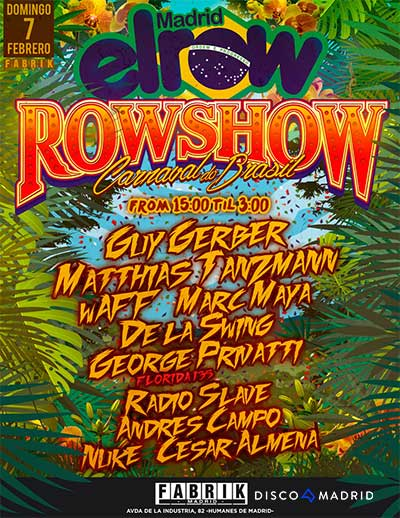 Flyer ElRow Carnaval 7 febrero 2016