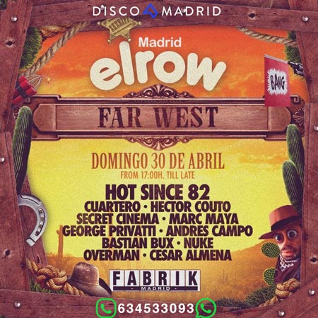 Flyer ElRow Far West 30 abril 2017