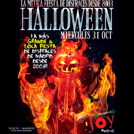 Flyer Halloween 2018 Joy Eslava