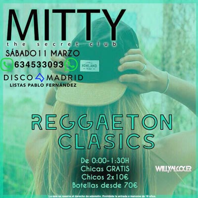 Flyer discoteca Mitty 11 marzo 2017