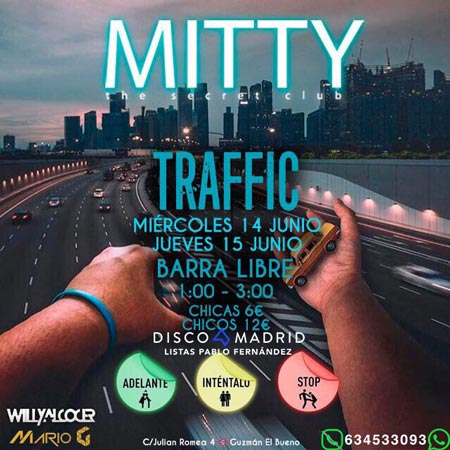 Flyer discoteca Mitty 14 junio 2017