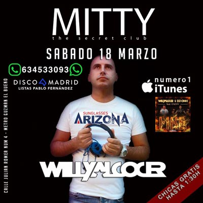 Flyer Discoteca Mitty 18 marzo 2017