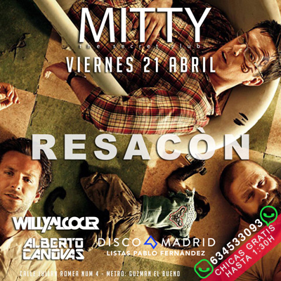 Flyer discoteca Mitty 21 abril 2017