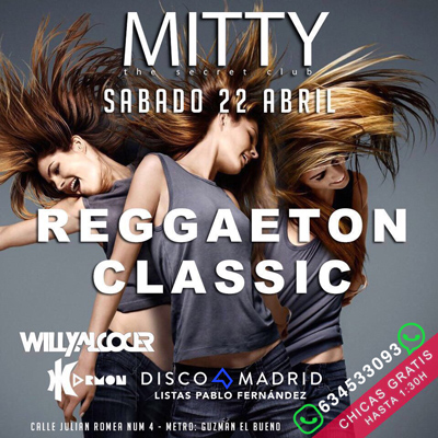 Flyer discoteca Mitty 22 abril 2017