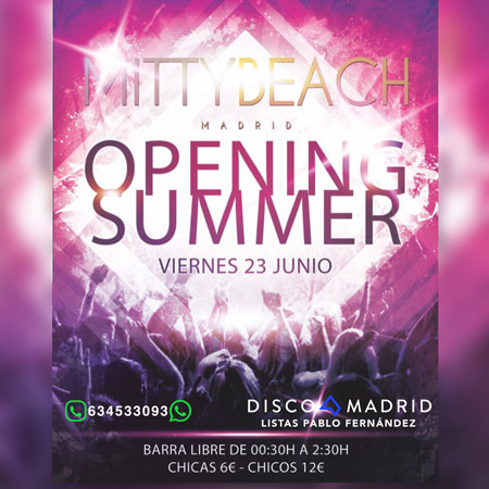 Flyer Mitty Beach 23 junio 2017