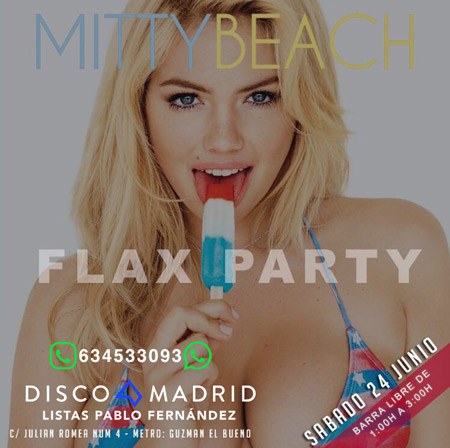 Flyer Mitty Beach 24 junio 2017
