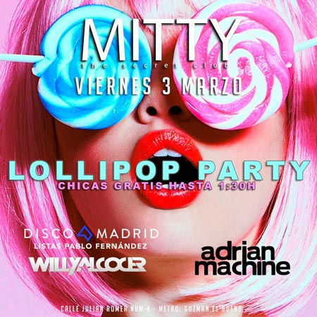 Flyer discoteca Mitty 3 marzo 2017