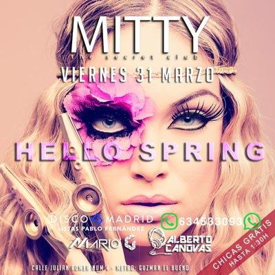 Flyer discoteca Mitty 31 marzo 2017