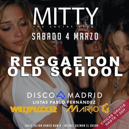 Flyer discoteca Mitty 4 marzo 2017