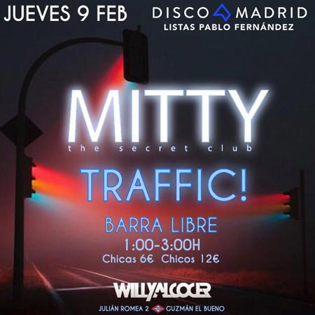 Flyer Discoteca Mitty 9 febrero 2017