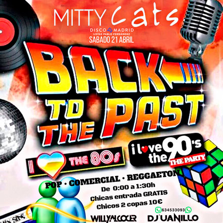 Flyer discoteca Mitty Cats 21 abril 2018
