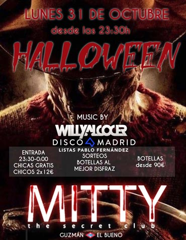 Flyer Mitty Halloween 2016