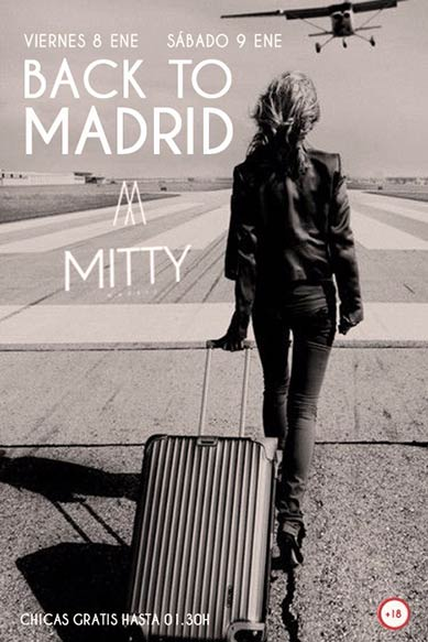 Flyer Mitty back to Madrid 8 y 9 enero 2016