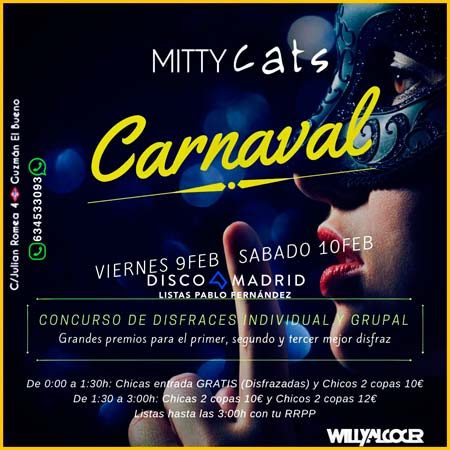 Flyer Mitty fiesta carnaval 2018