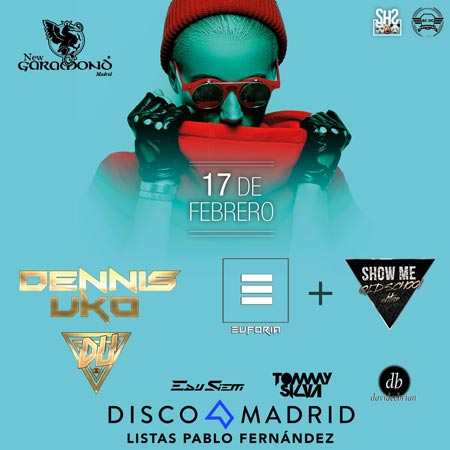 Flyer discoteca New Garamond 17 febrero 2017