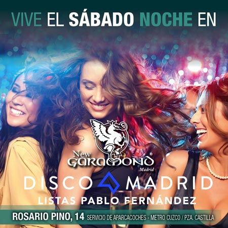 Flyer Discoteca New Garamond 18 febrero 2017