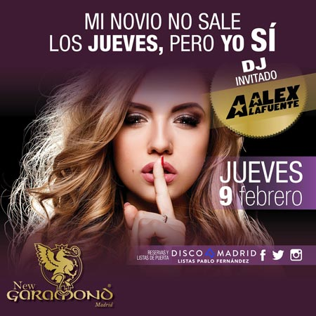 Flyer Discoteca New Garamond 9 febrero 2017
