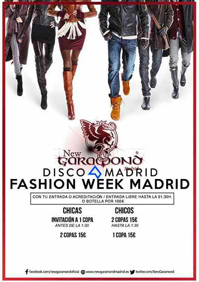 Flyer New Garamond Fashion Week 2016