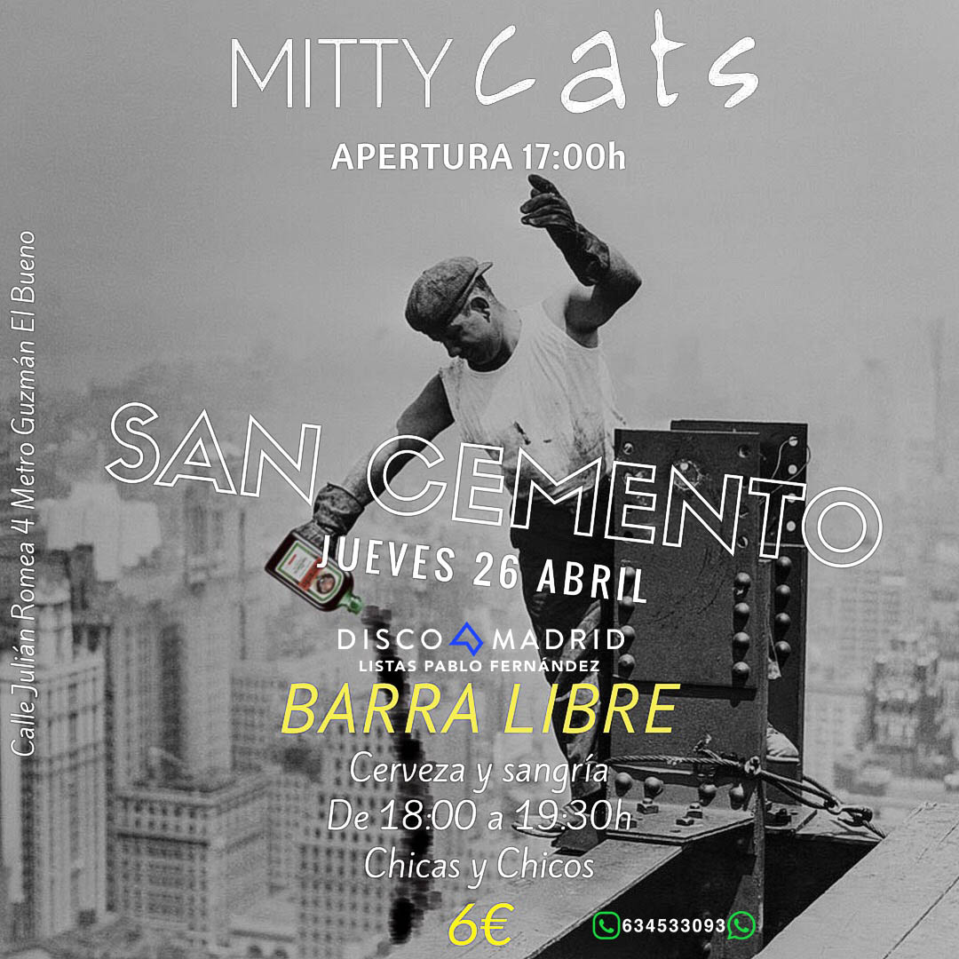 Flyer San Cemento Mitty 26 abril 2018