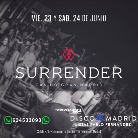 Flyer terraza Surrender 23 y 24 junio 2017