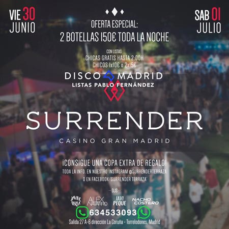 Flyer Surrender 30 junio 1 julio 2017
