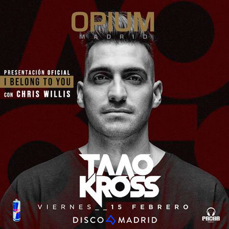 Flyer Taao Kross Opium Madrid 15 febrero 2019
