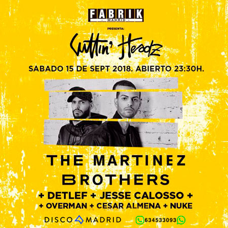 Flyer The Martinez Brothers Fabrik 15 septiembre
