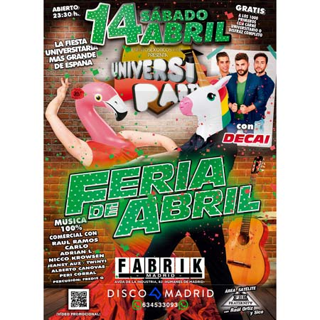 Flyer UniversiParty 14 abril 2018