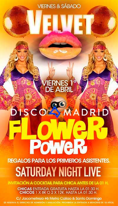 Flyer Velvet Madrid 1 y 2 abril 2016