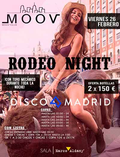 Moov Rodeo Night Febrero 2016