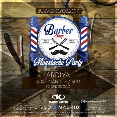 Moustache Party Kapital 2 marzo 2017