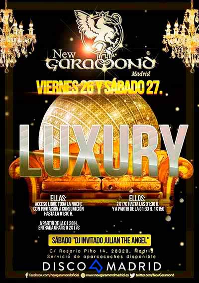 New Garamond flyer Luxury 26 y 27 febrero